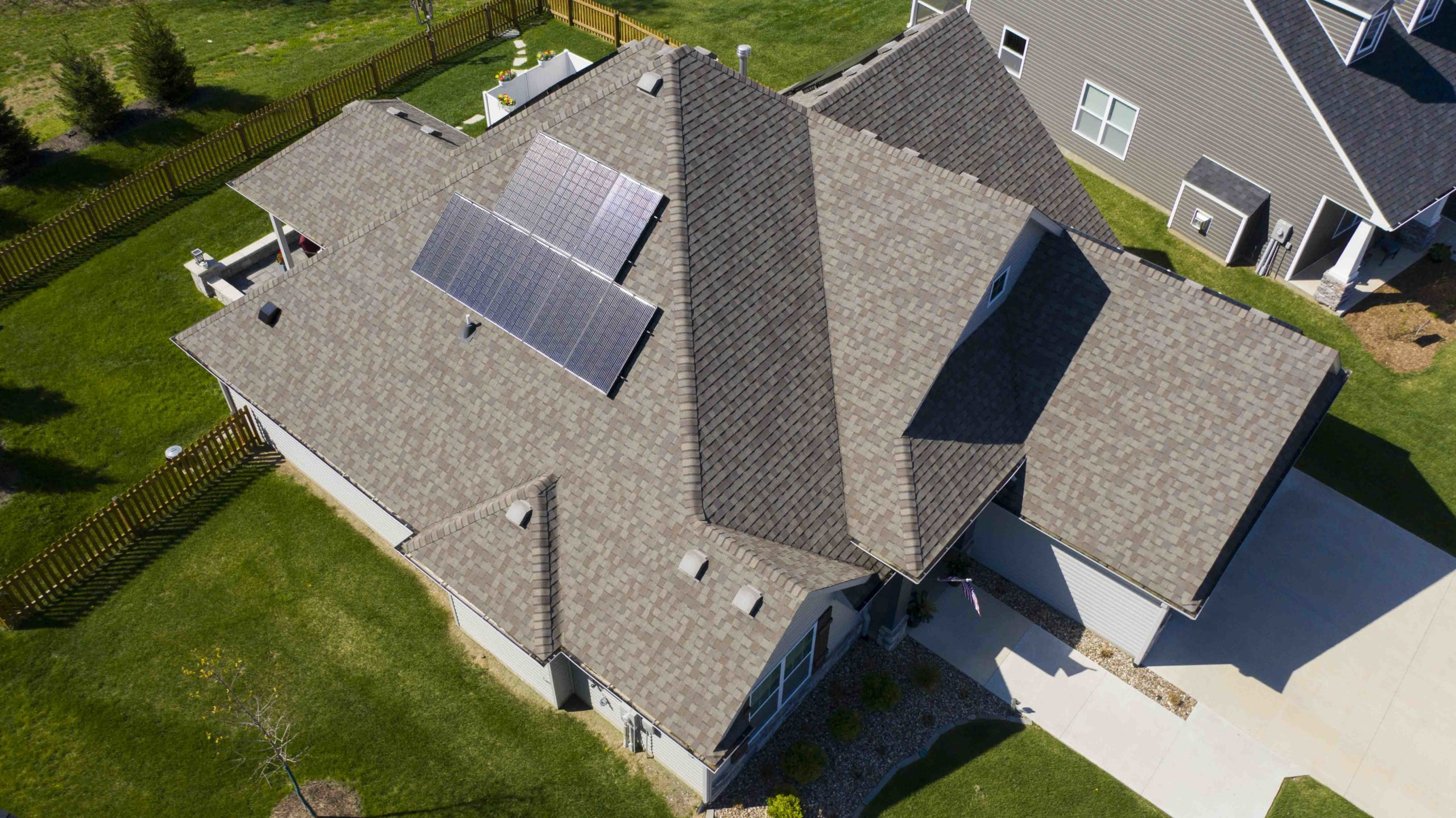The solar panel installation on this Columbia, MO home was completed by Dogwood Solar.