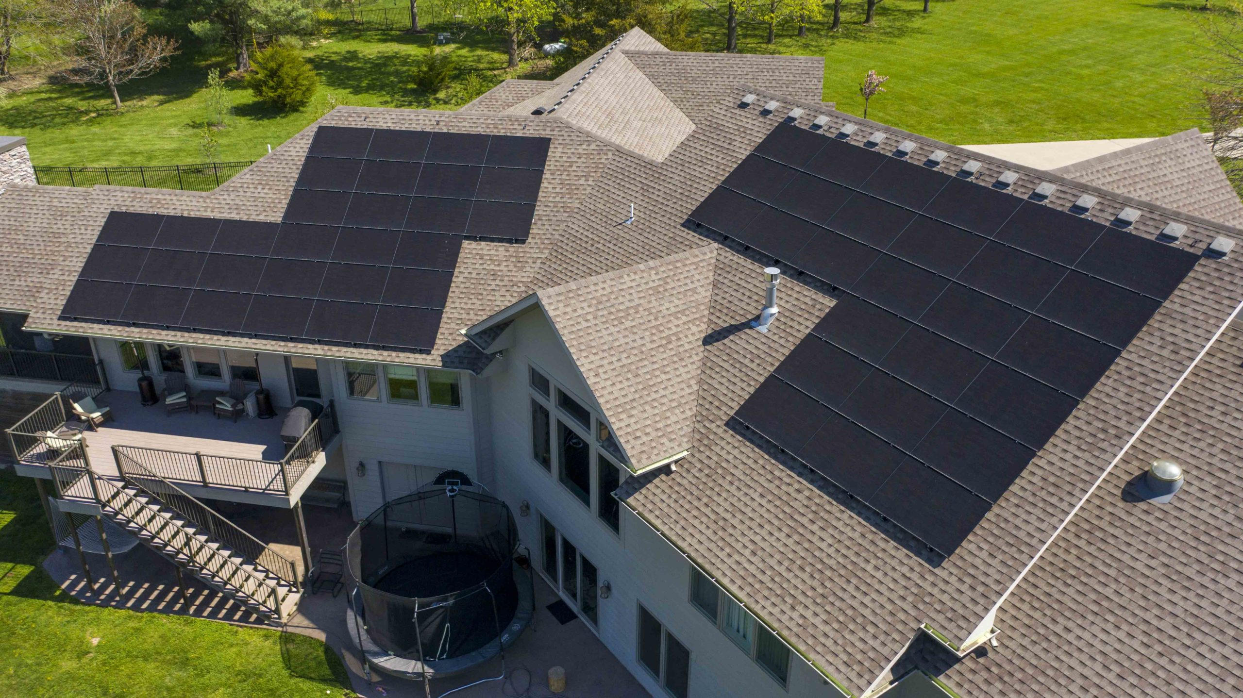 Beautiful solar panels provide a clean look to this solar install by Dogwood Solar.